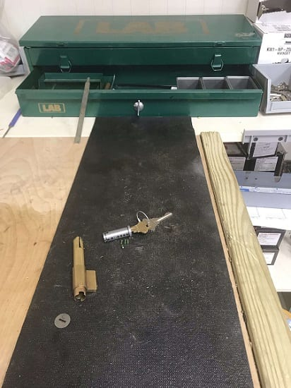 Redkeyllc locks rekey process 6