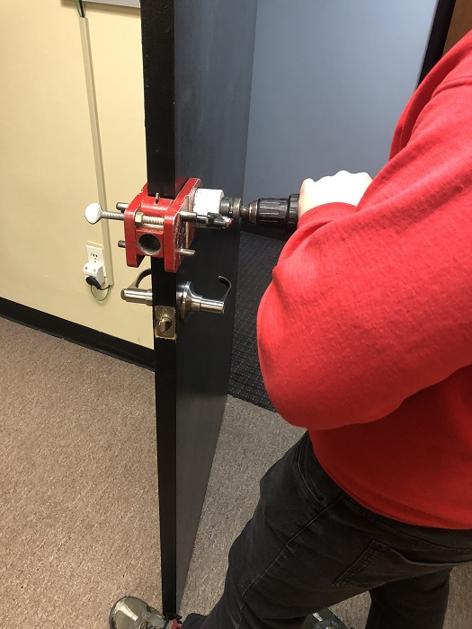 Redkeyllc Fresh Installation Door Prep 2